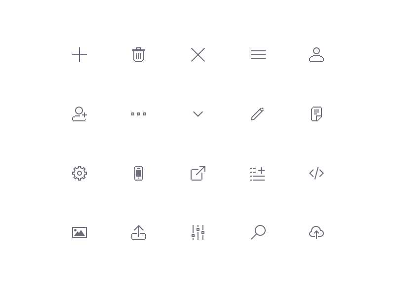 Pixel Art icon collection by Eder Rengifo