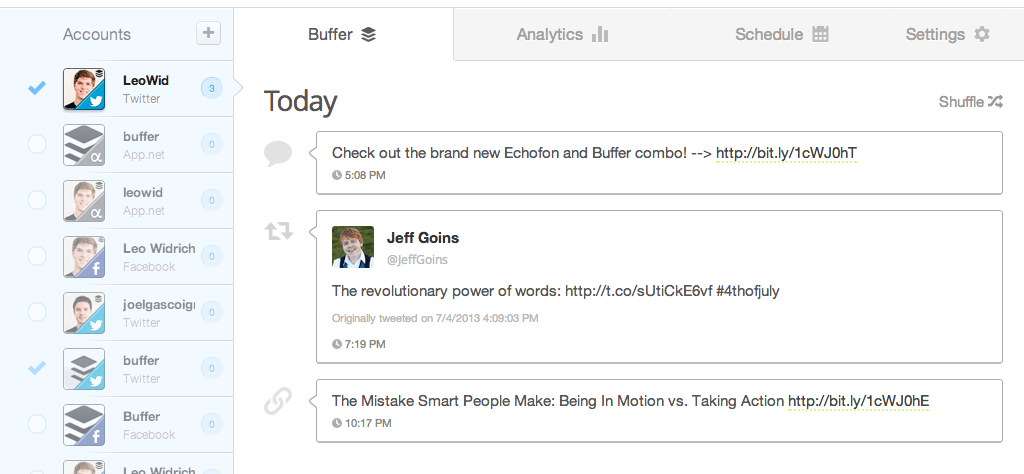 Buffer Is One Of The Oldest Social Media Management Tools That Continues To Be Effective Date Tool Offers Two Types Scheduling