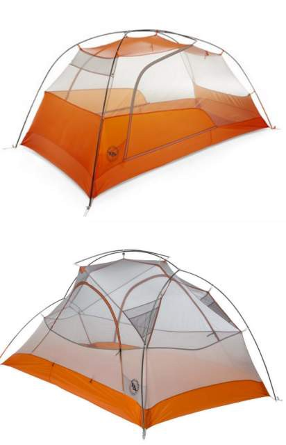The new 2017 Copper Spur HV UL 2 innter tent (top) has much more headroom and interior space than the older Copper Spur UL 2 (bottom) pole architecture