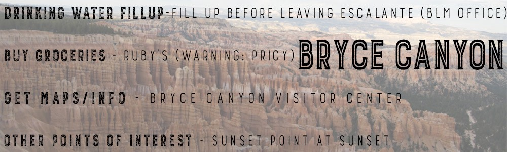 getting supplies in Bryce Canyon for an epic southern utah road trip