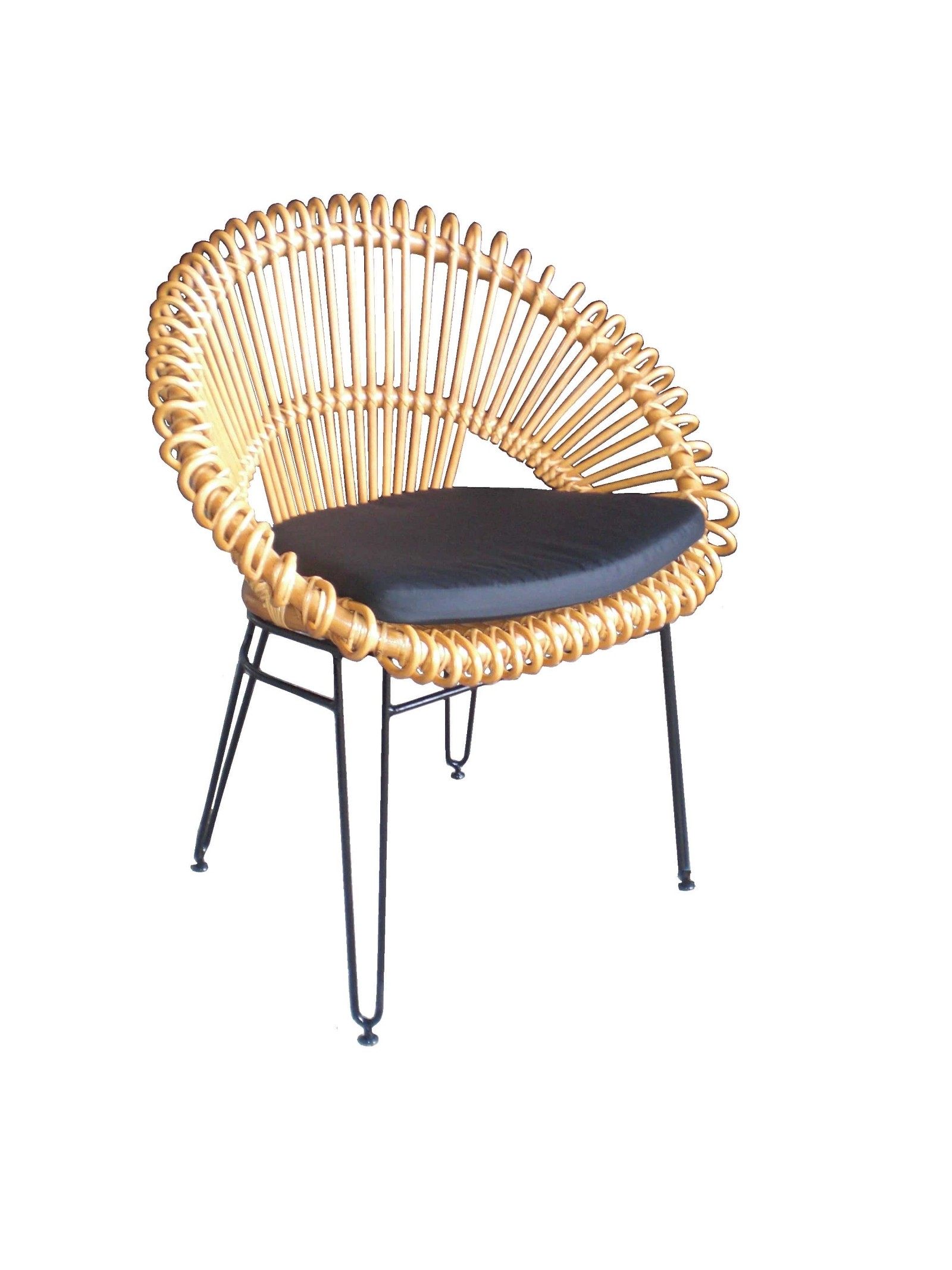 Wicker Circle Chair Bamboo Round Rattan With