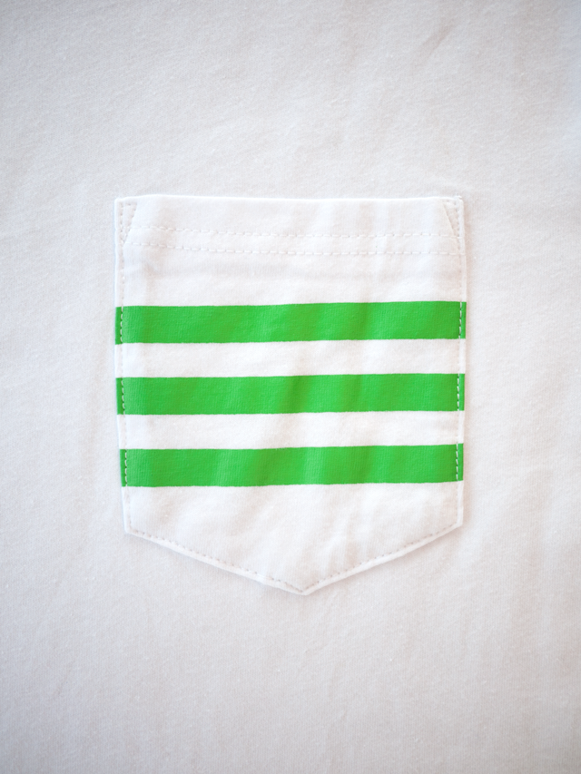 cb6e22f4d Custom Pocket Tee Featuring Vibrant Striped Graphic, Produced for  Rhinegeist Brewery