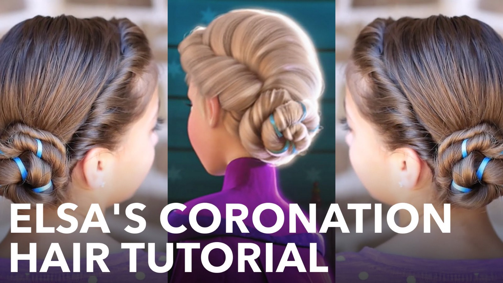 Video Elsas Frozen Coronation Hairstyle Tutorial How To Medium
