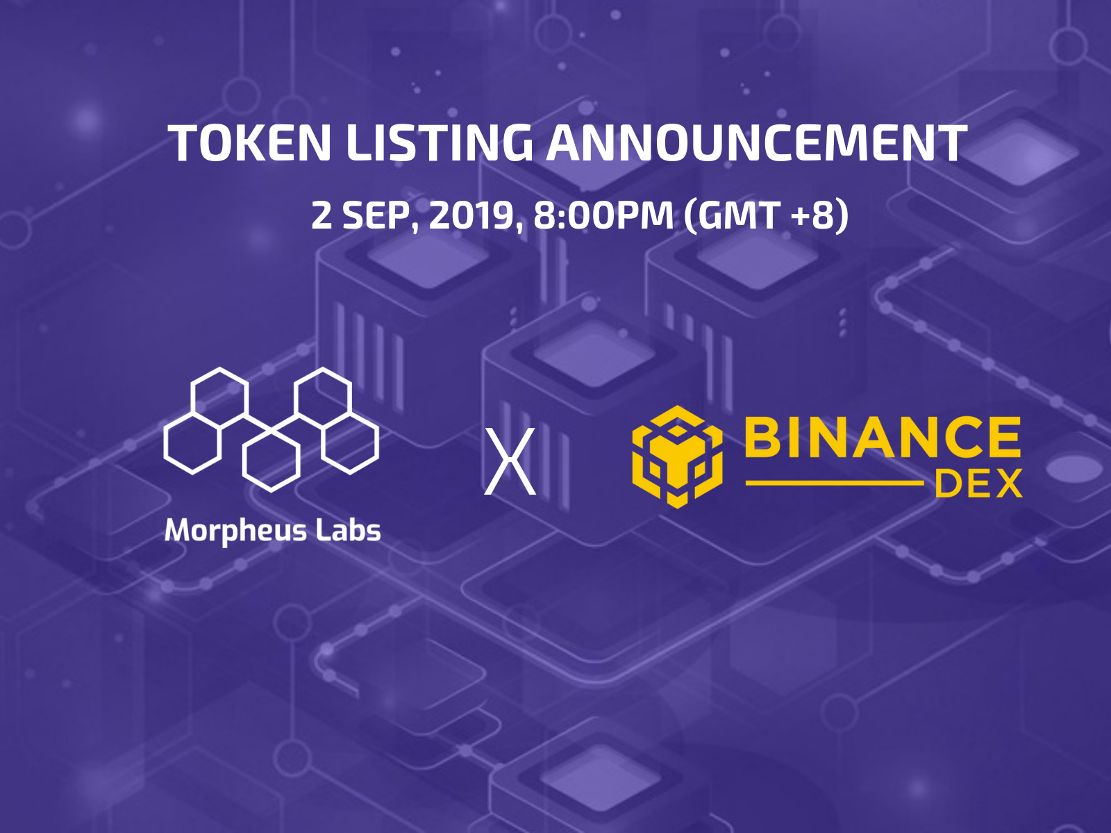 Morpheus Labs (MITX) will be listed on Binance DEX