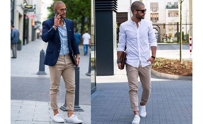 Beige chino with just a solid-coloured shirt or even a blazer over it looks  really urbane. 84bd28535c