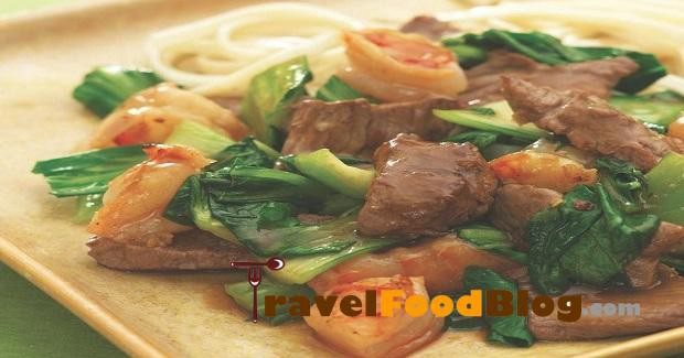 Spicy Beef With Shrimp & Bok Choy Recipe
