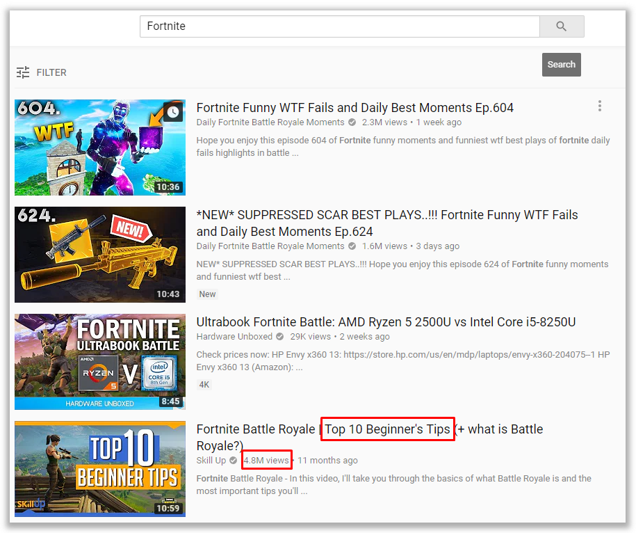 Image of: Likes Current Top Search Results For fortnite Quality Content Has The Most Views Sfwfun Top 10 Tricks To Get More Youtube Views Freegramio Medium