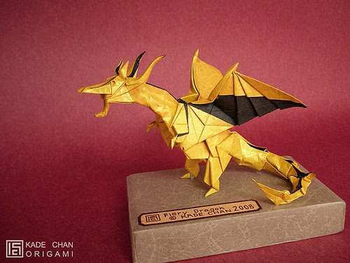 Origami Dragon Instructions in 2020 | Origami dragon, Easy ... |Origami Fiery Dragon Instructions