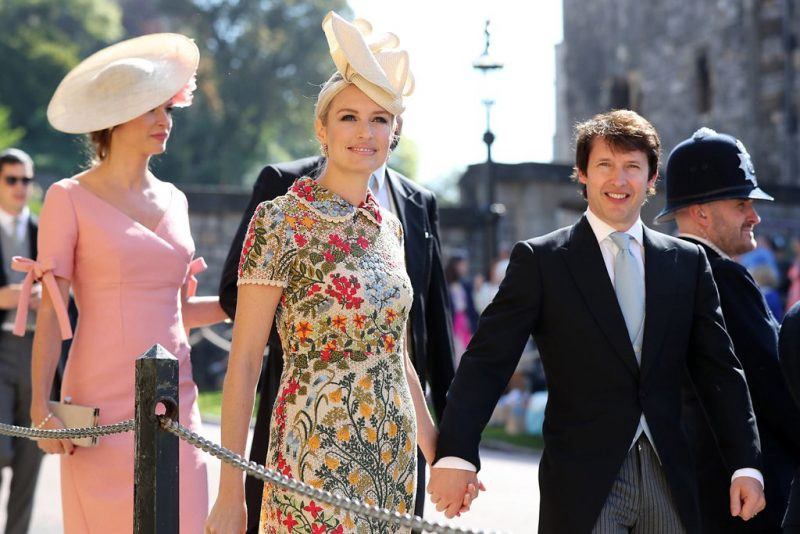 49f69606 British singer James Blunt's wife and the grand-daughter of the 8th Duke of  Wellington, Sofia Wellesley, stole hearts at the wedding.