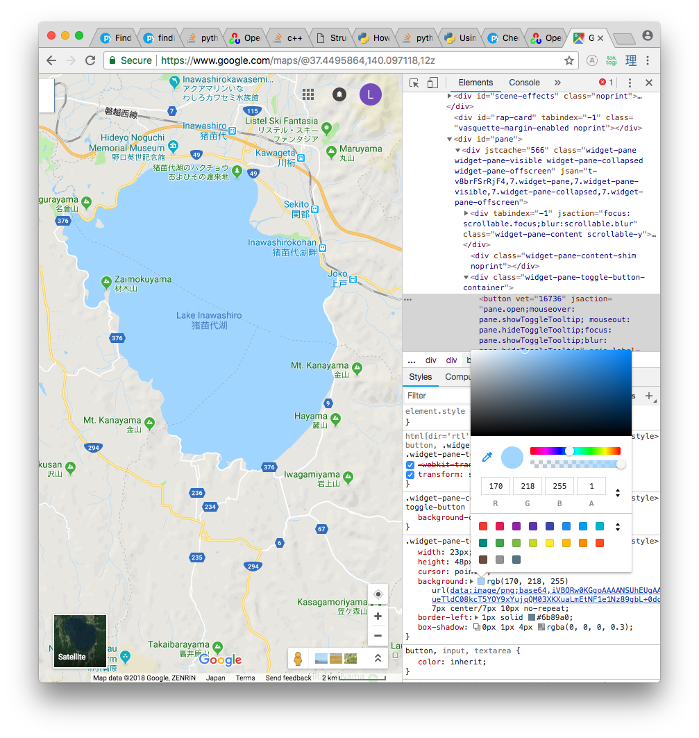 Detecting and Outlining Lakes with Python3 and OpenCV 3