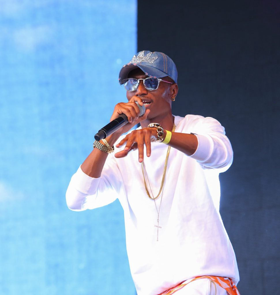 Octopizzo the Rapper performing during BLAZE Kisumu B.Y.O.B-Summit