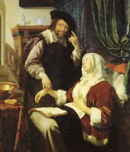 """""""Yes dear, of course I believe you're ill…"""" Frans Van Mieris, 'The Doctor's Visit', 1657."""