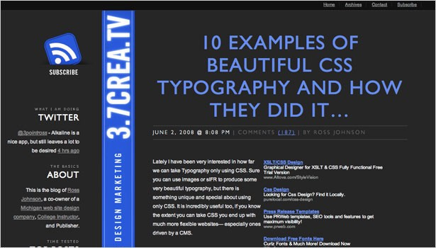 148 resources to help you become a css expert dotdev 10 examples of beautiful css typography and how they did it offers up great examples of css typography along with tutorials on how to create each malvernweather Choice Image