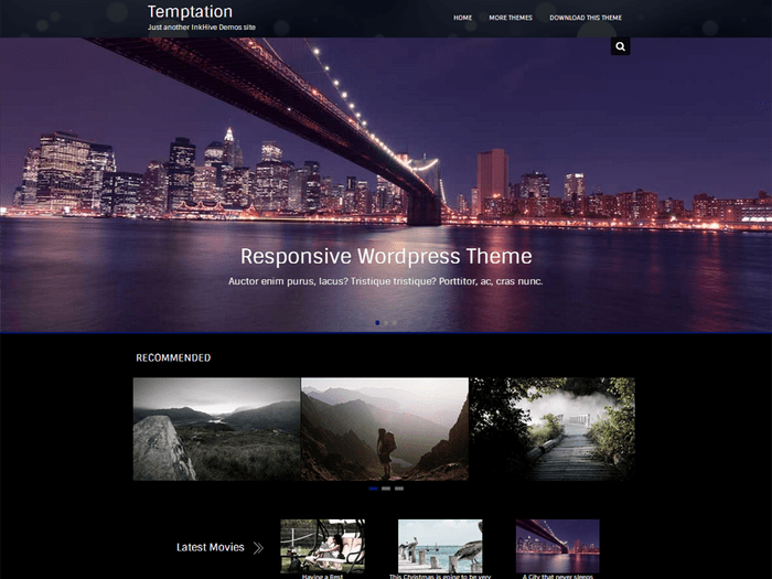 Temptation WP photography theme