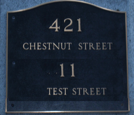house with two addresses