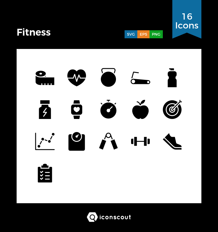 Fitness icons by Baabullah Hasan