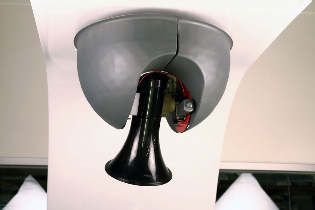 riottech: ceiling-mounted megaphone