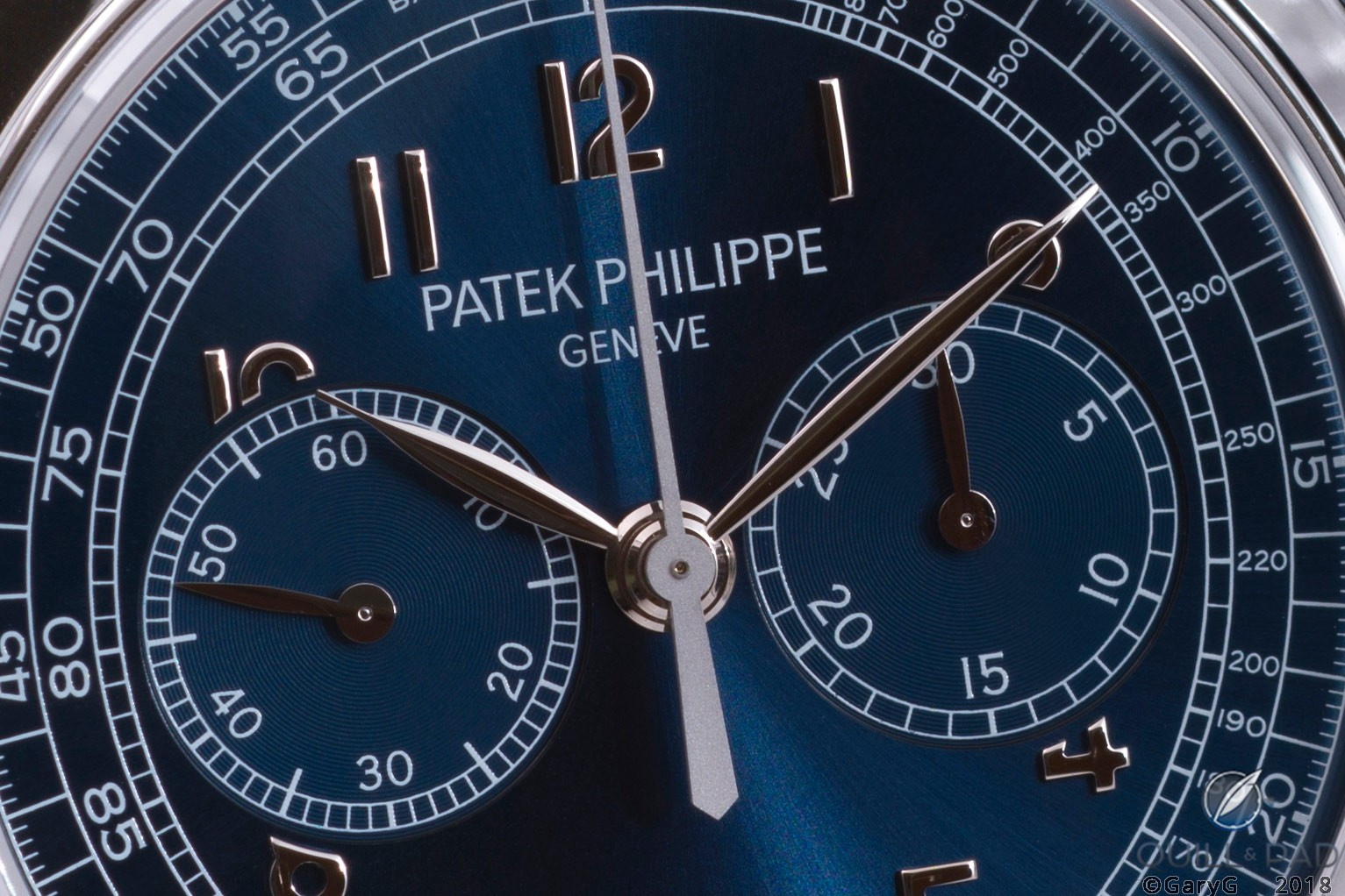 Dial detail, Reference 5070P-013 chronograph