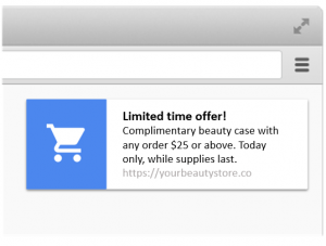 Ecommerce push notifications new product announcements