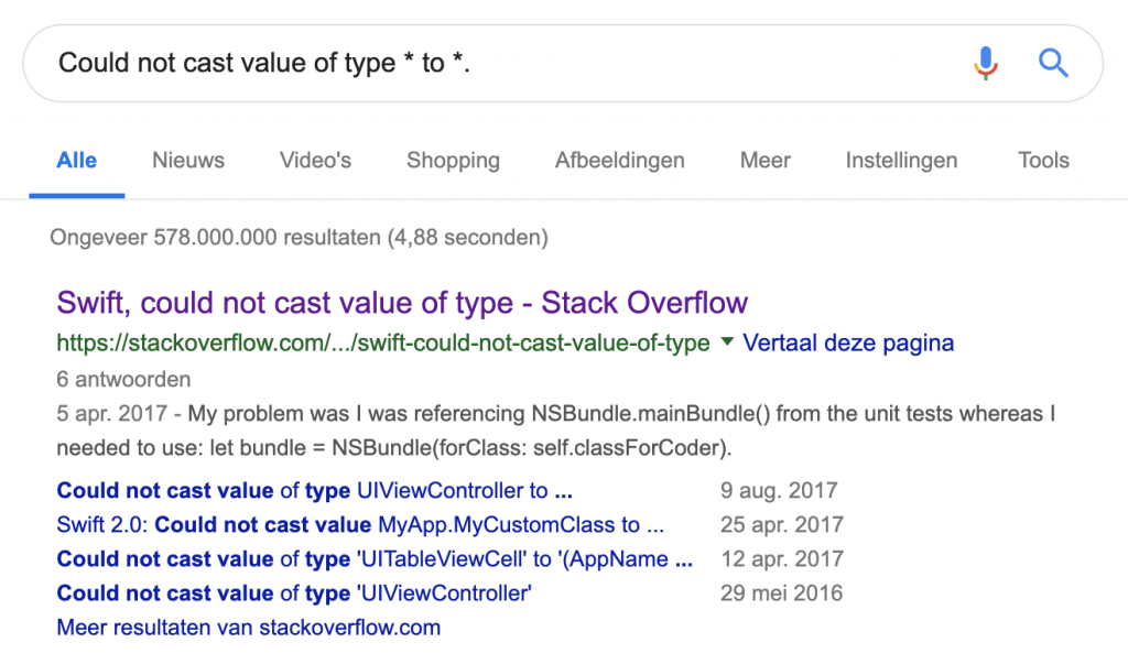 Developer Productivity boost using asterisks in search terms