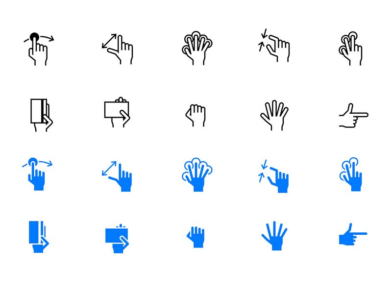 Gesture icons by GraphicsFuel