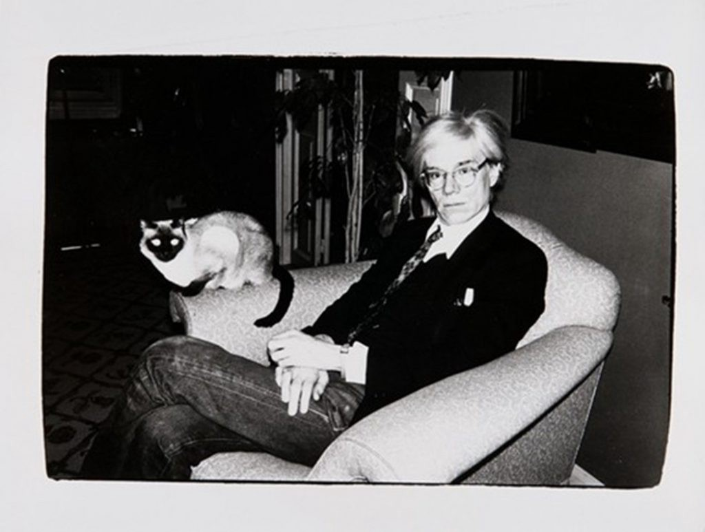 Andy Warhol with Cat Photography by Andy Warhol