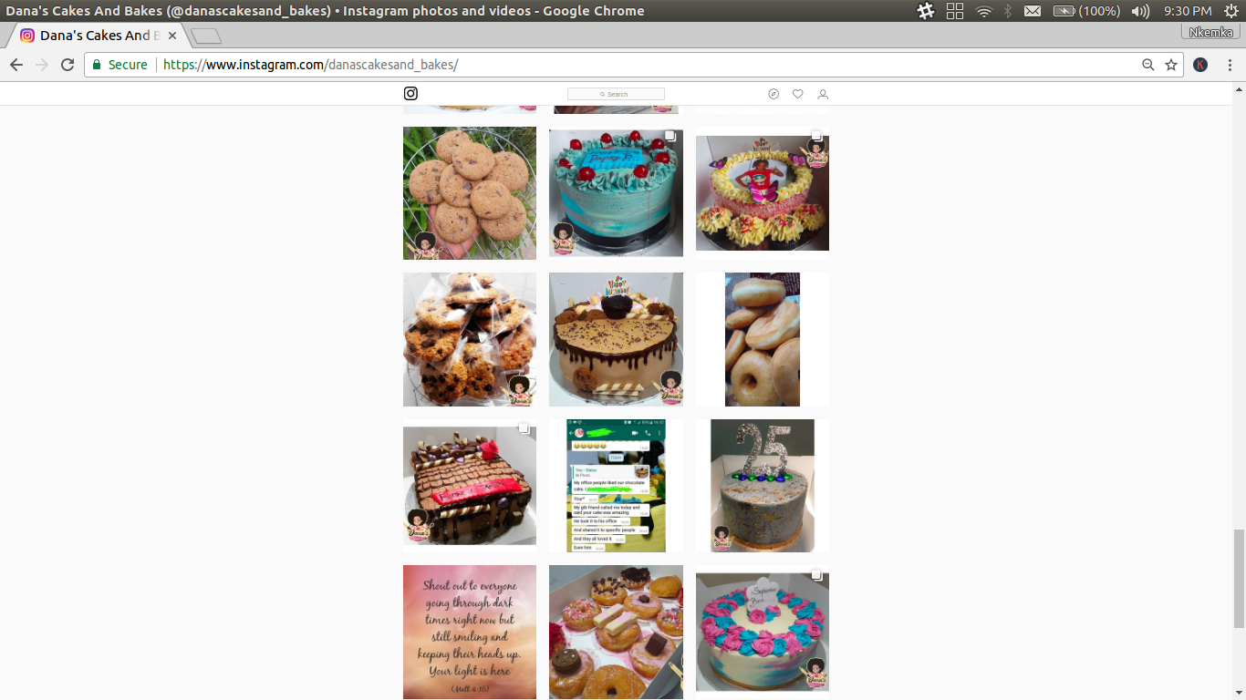 cakes and snacks bakery in Lagos
