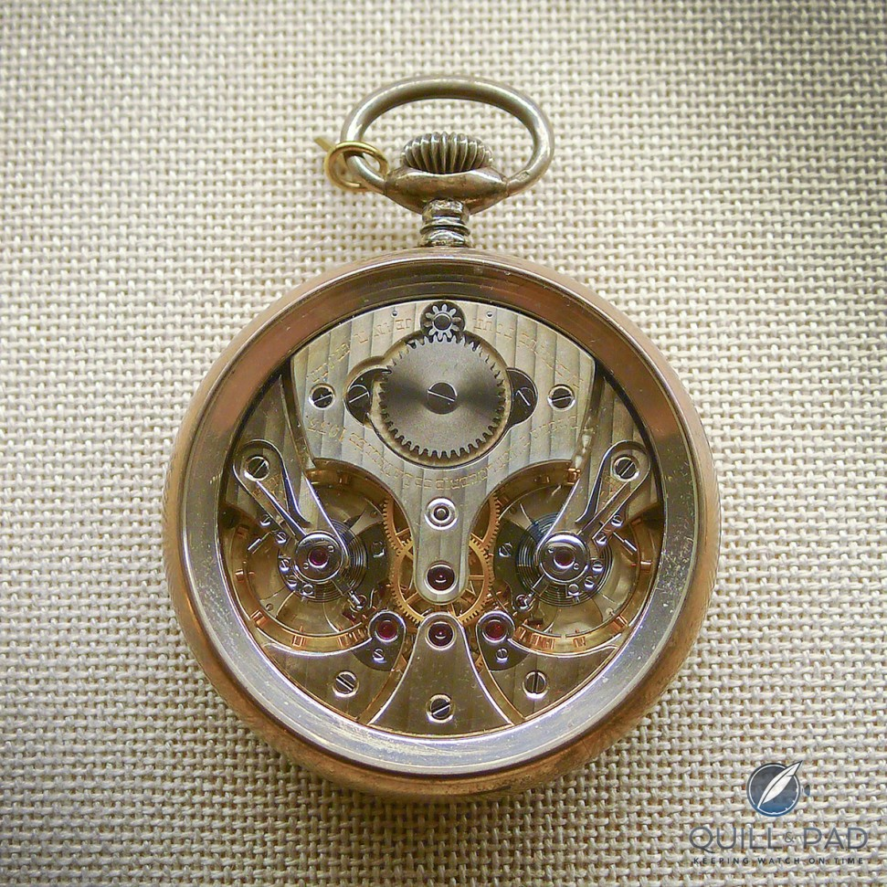 A Le Sentier horological school watch with two escapements, the inspiration for Philippe Dufour's Duality