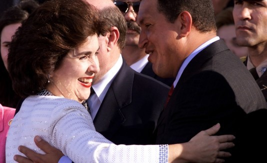 Image result for Governor Sila maria Calderon invites hugo Chavez