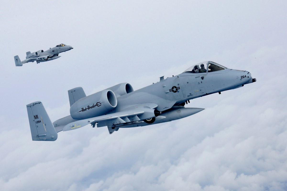U.S. Air Force A-10 Warthogs. Air Force photo