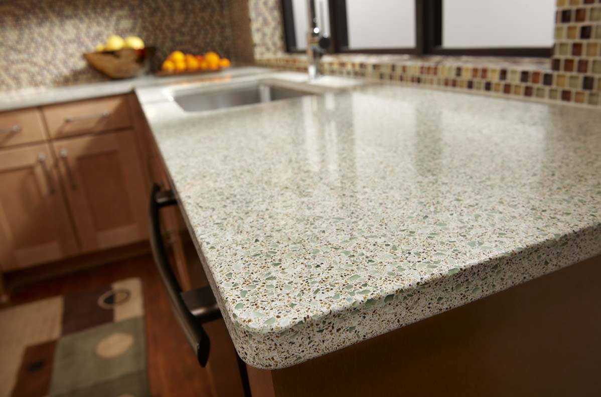 What Makes Icestone Green Countertops Made From Recycled Gl