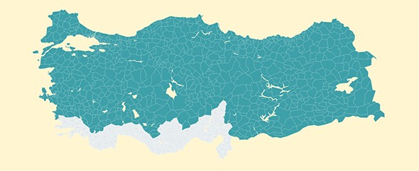 Interactive Vectorel Turkey Districts Map