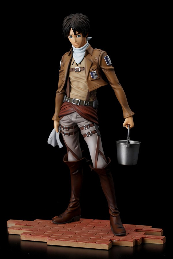 Eren Yeager Cleaning ver. BRAVE-ACT 1:8 Figure by Sentinel