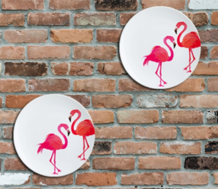 Dance of the Flamingos Wall Plate