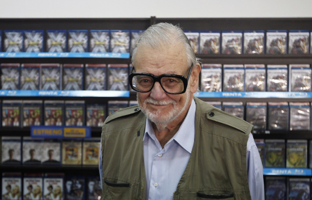 U.S. filmmaker George A. Romero, also known as the Zombie Master, poses for the media during the Hallowfest news conference in Mexico City October 21, 2011. Romero is in Mexico on a three-day visit to talk about his experiences of making zombie films during Hallowfest, which will take place in Mexico City from October 22 to 23. REUTERS/Carlos Jasso (MEXICO - Tags: ENTERTAINMENT PORTRAIT) - RTR2SZLX