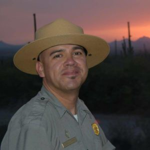 Forest Ranger Cam Juarez who works at Saguaro National Park has no vocal opposition to this spraying of chemicals at his workplace and near residences.