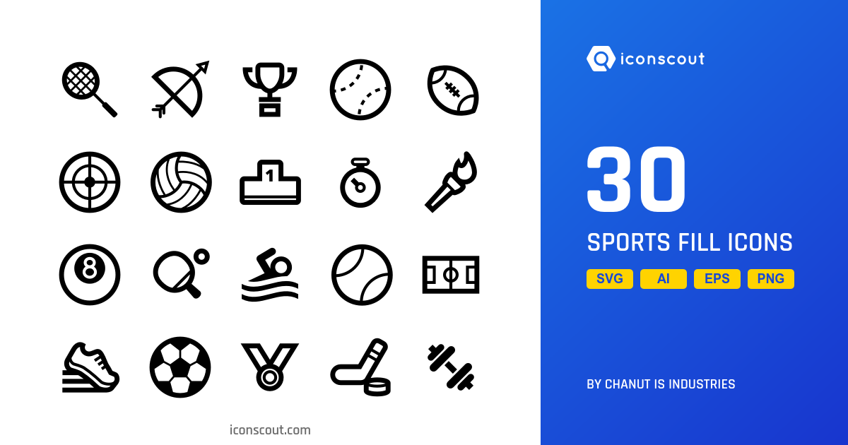 Sports Fill icons by Chanut Is Industries
