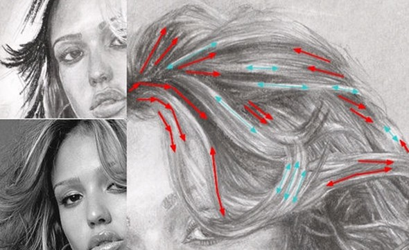 Hair-drawing-tutorial