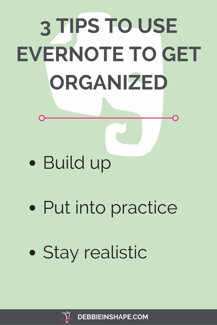 Evernote can also be used as your ally in getting organized with your household. Check these 3 tips to start using to get organized today.