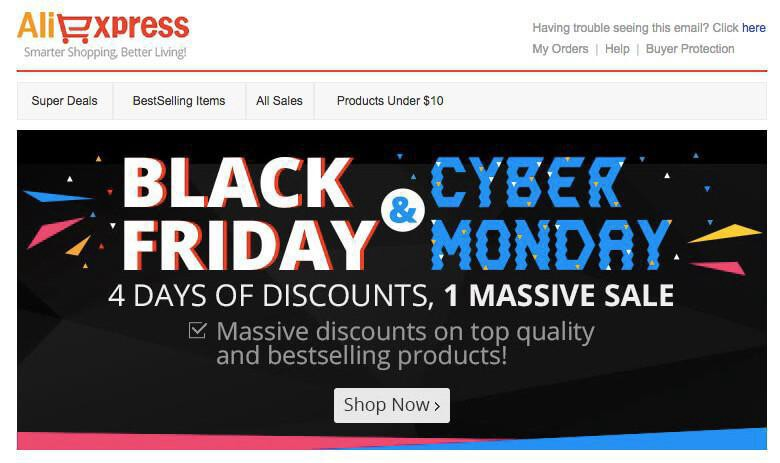AliExpress Black Friday Campaign.