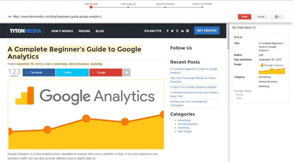 google webmaster tools guide tyler horvath medium