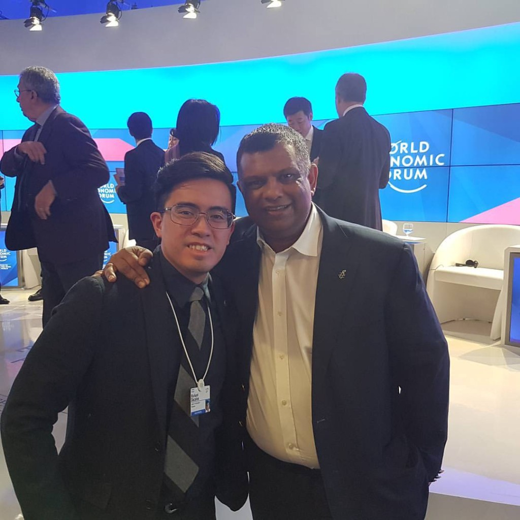 """Standing next to Tony Fernandes as I ask myself """"How did it get here again?"""""""