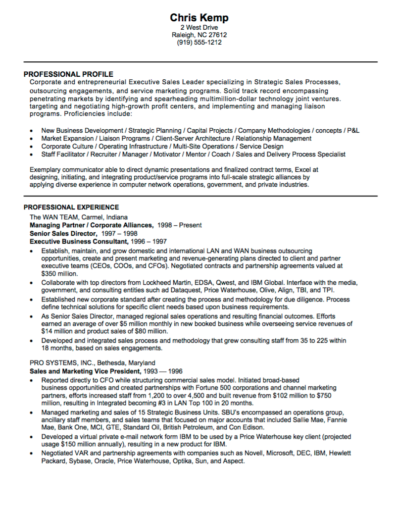 technology sales resume examples executive templates 2015 samples