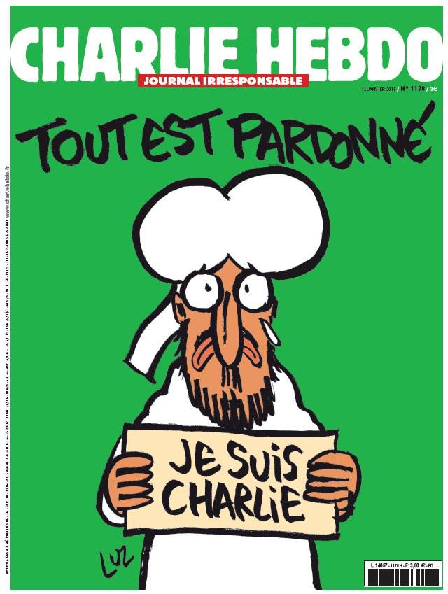 """New Charlie Hebdo Cover: """"All Is Forgiven"""""""