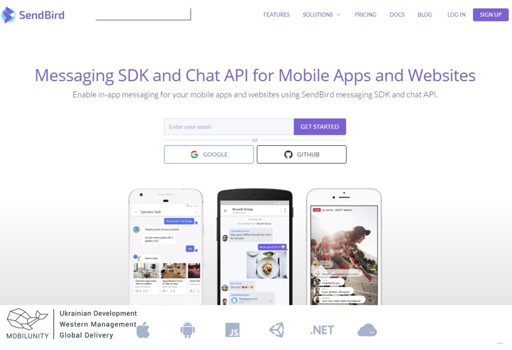 Get messaging with multi vendor ecommerce Send bird