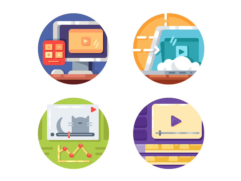 Video Media Icons by Kit8