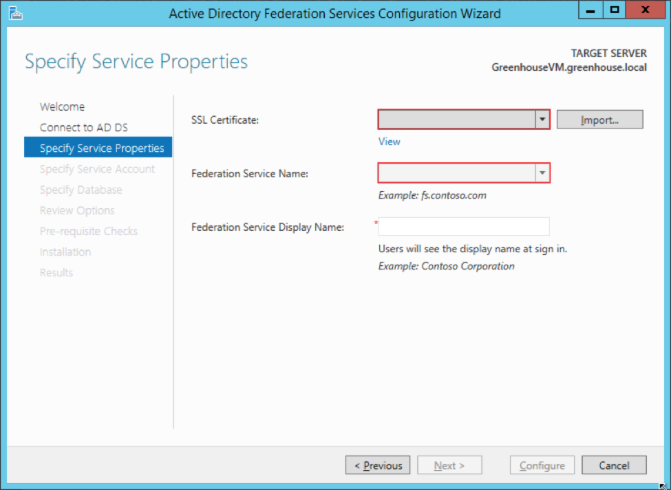Create A Test Active Directory Federation Services 30 Instance On