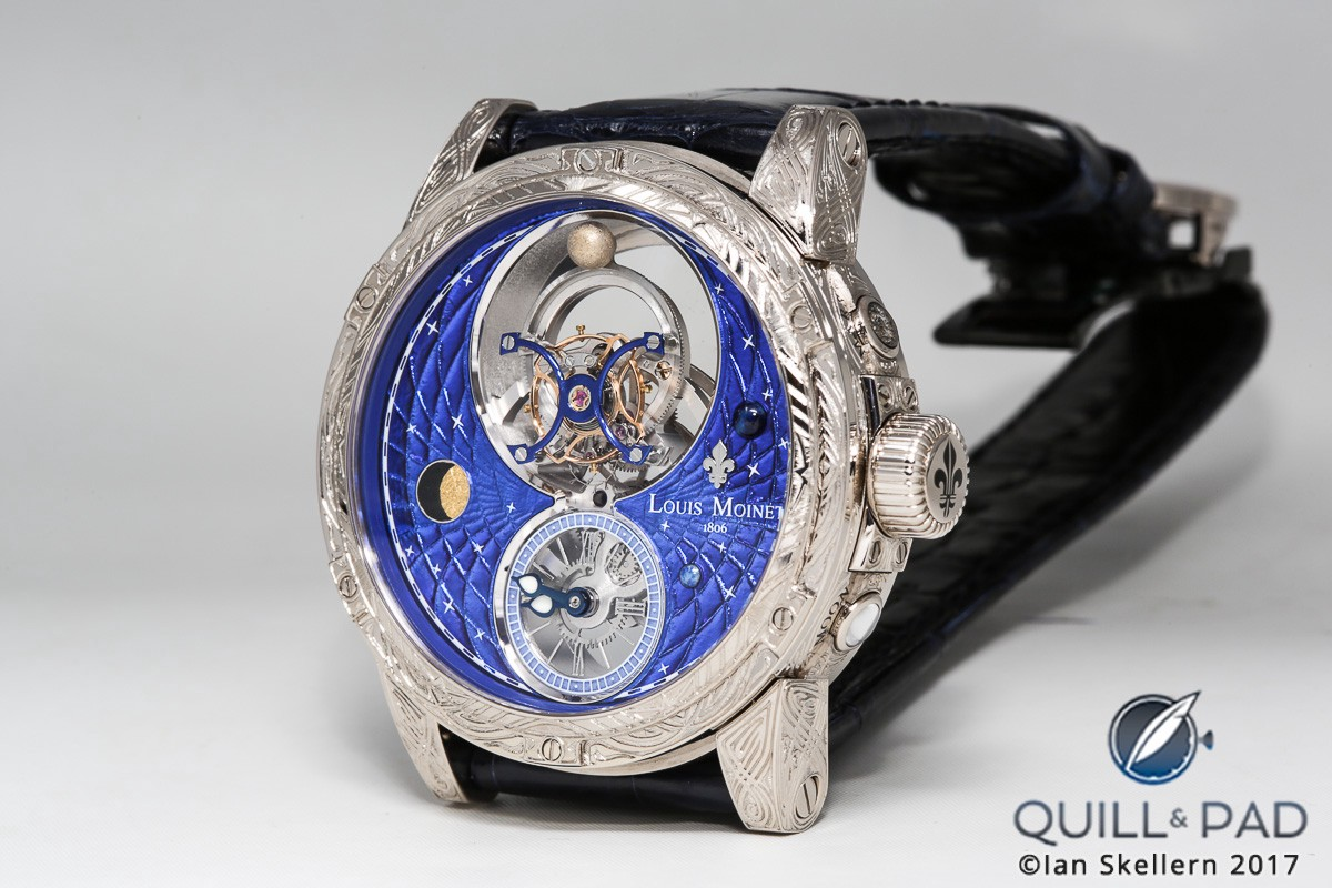 Louis Moinet Space Mystery with hand engraved case