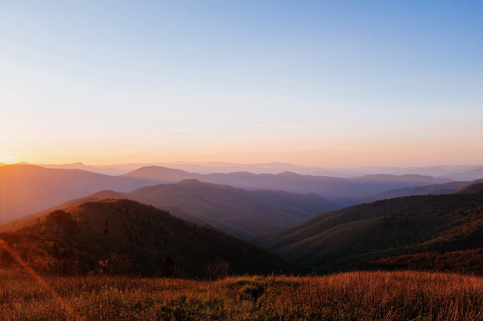 Our memorable sunset hike from our May trip to Asheville