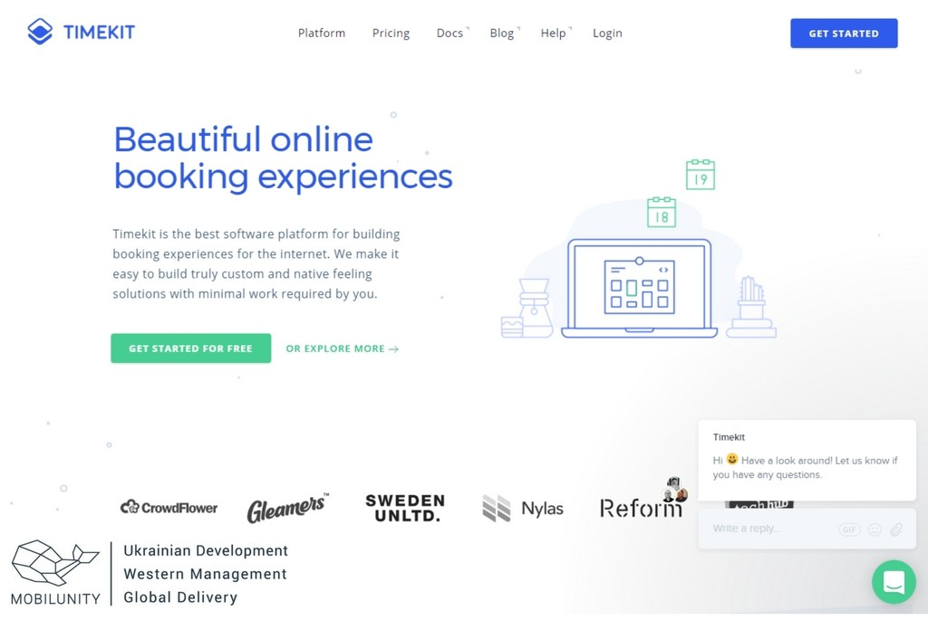 booking feature of online marketplaces with timekit